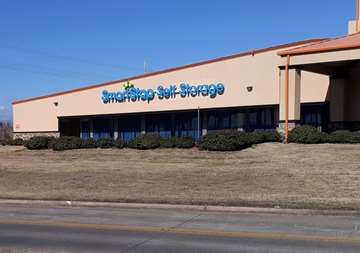 Front entry view of SmartStop Self Storage facility at 3730 Emmett F Lowry Expy Texas City Texas