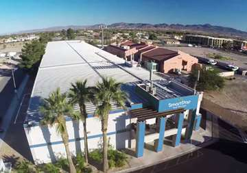 Aerial view of property at SmartStop Self Storage facility located at 8020 South Las Vegas Blvd, Las Vegas Nevada