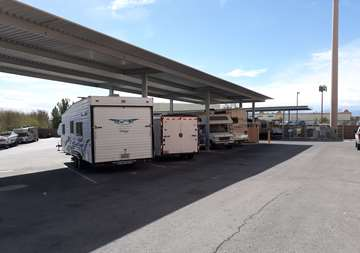 Covered RV parking at SmartStop Self Storage facility located at 2555 West Centennial Parkway, North Las Vegas Nevada