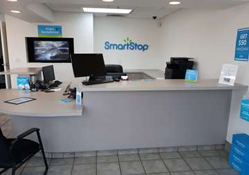 Front desk at SmartStop Self Storage facility located at 2555 West Centennial Parkway, North Las Vegas Nevada