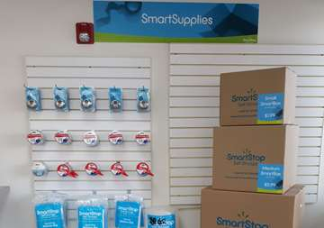 Moving and packaging supplies available for purchase at SmartStop Self Storage facility located at 2555 West Centennial Parkway, North Las Vegas Nevada