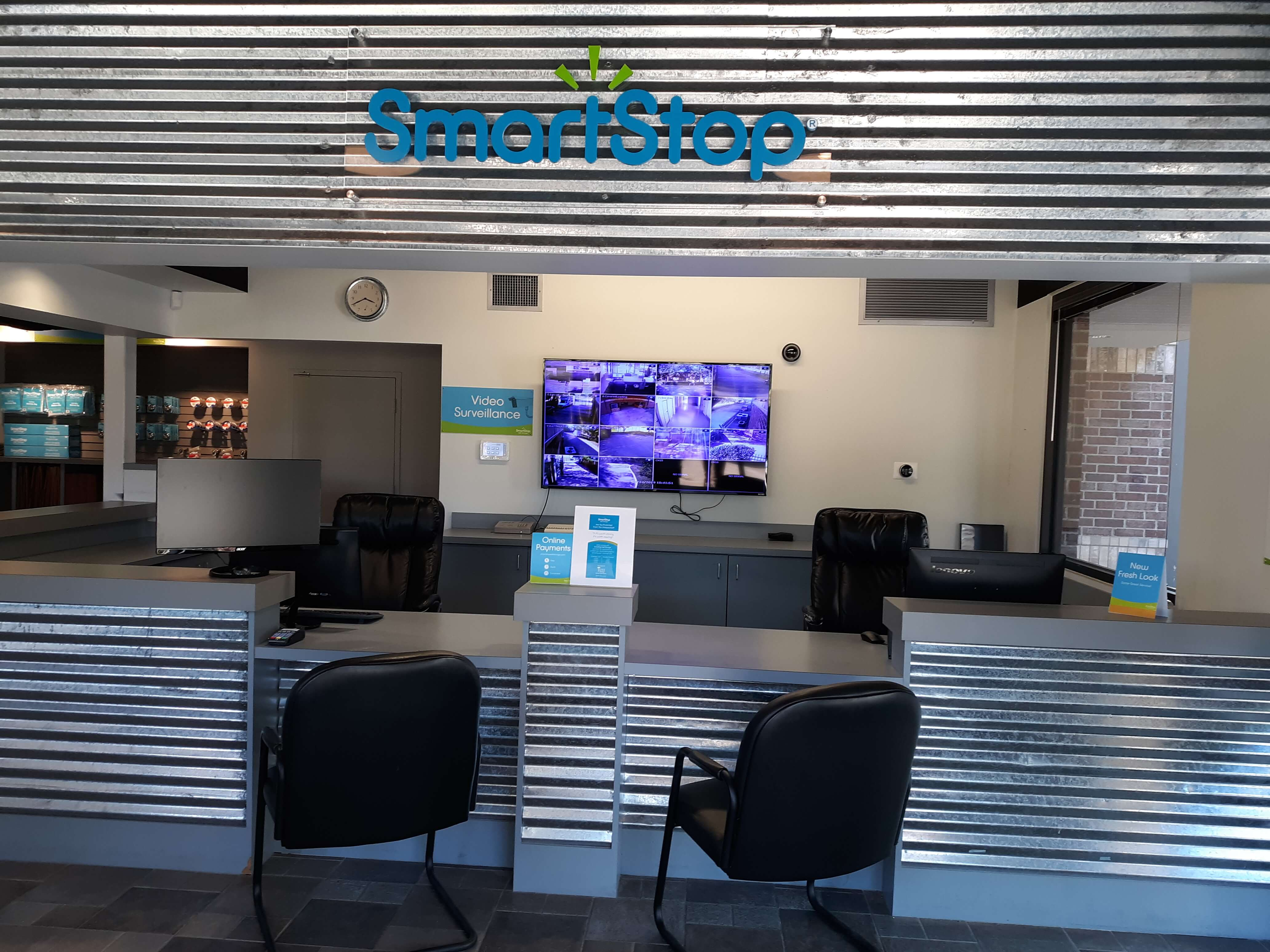 Front desk at Smart Stop Self Storage facility at 23250 Westheimer Parkway, Katy Texas