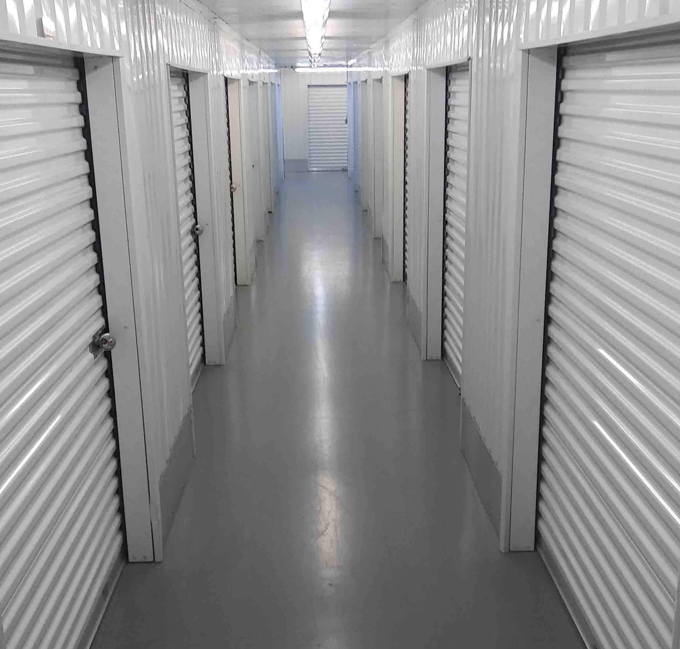 Inside view of storage units at Smart Stop Self Storage facility at 23250 Westheimer Parkway, Katy Texas