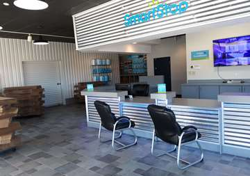 Front desk at SmartStop Self Storage facility located at 3750 FM 1488 Road, Conroe Texas