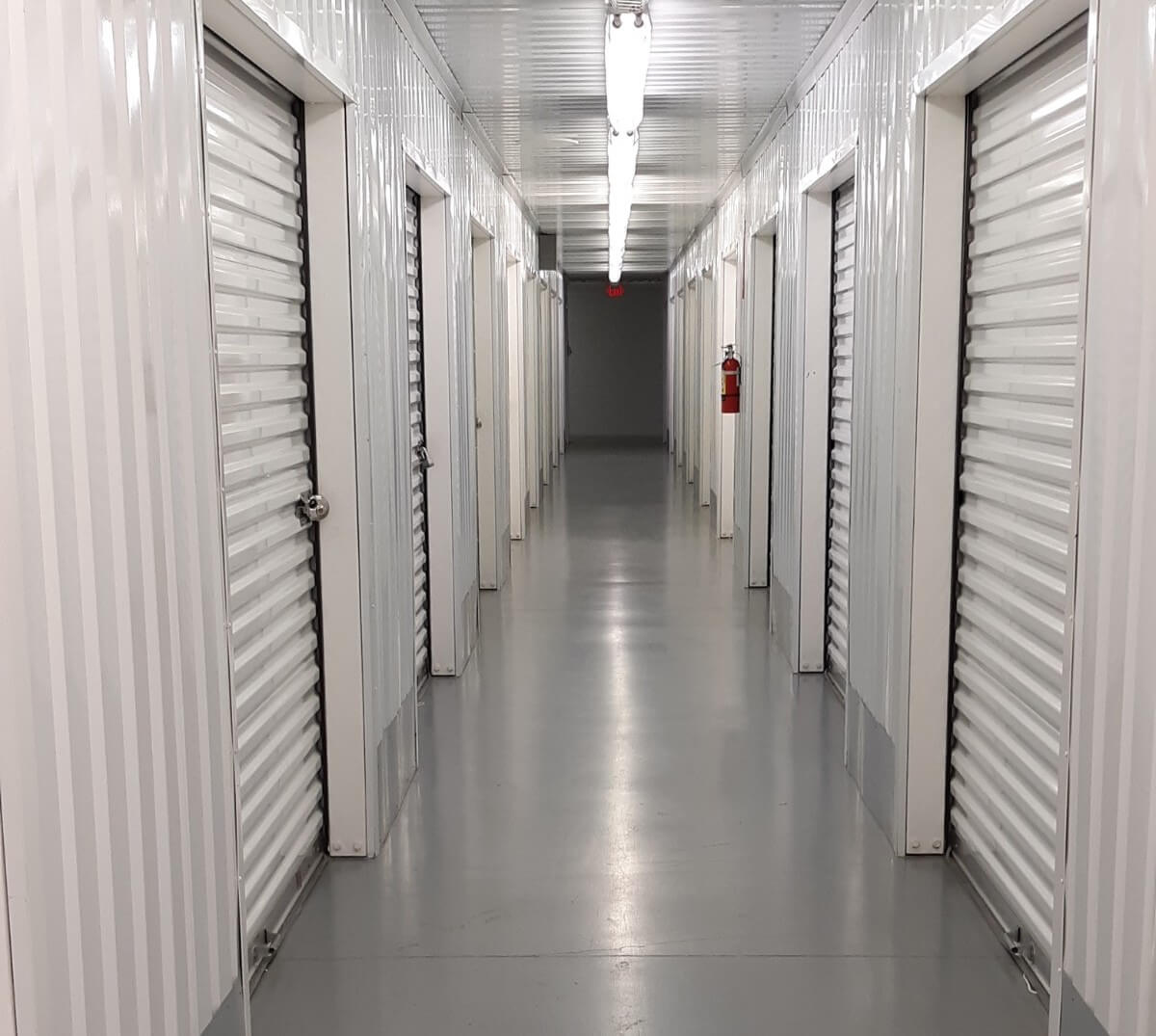 Inside view of storage units at Smart Stop Self Storage facility at 7474 Gosling Road, The Woodlands Texas