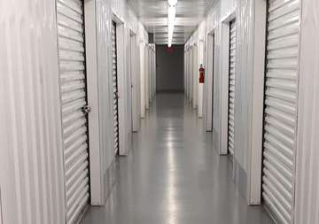 Inside view of storage units at SmartStop Self Storage facility at 7474 Gosling Road, The Woodlands Texas