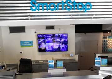 Front desk view of SmartStop Self Storage facility at 7474 Gosling Road, The Woodlands Texas