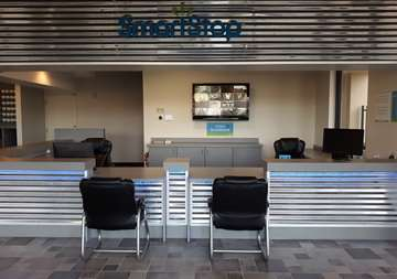 Front desk of SmartStop Self Storage facility located at 8415 Queenston Blvd, Houston Texas
