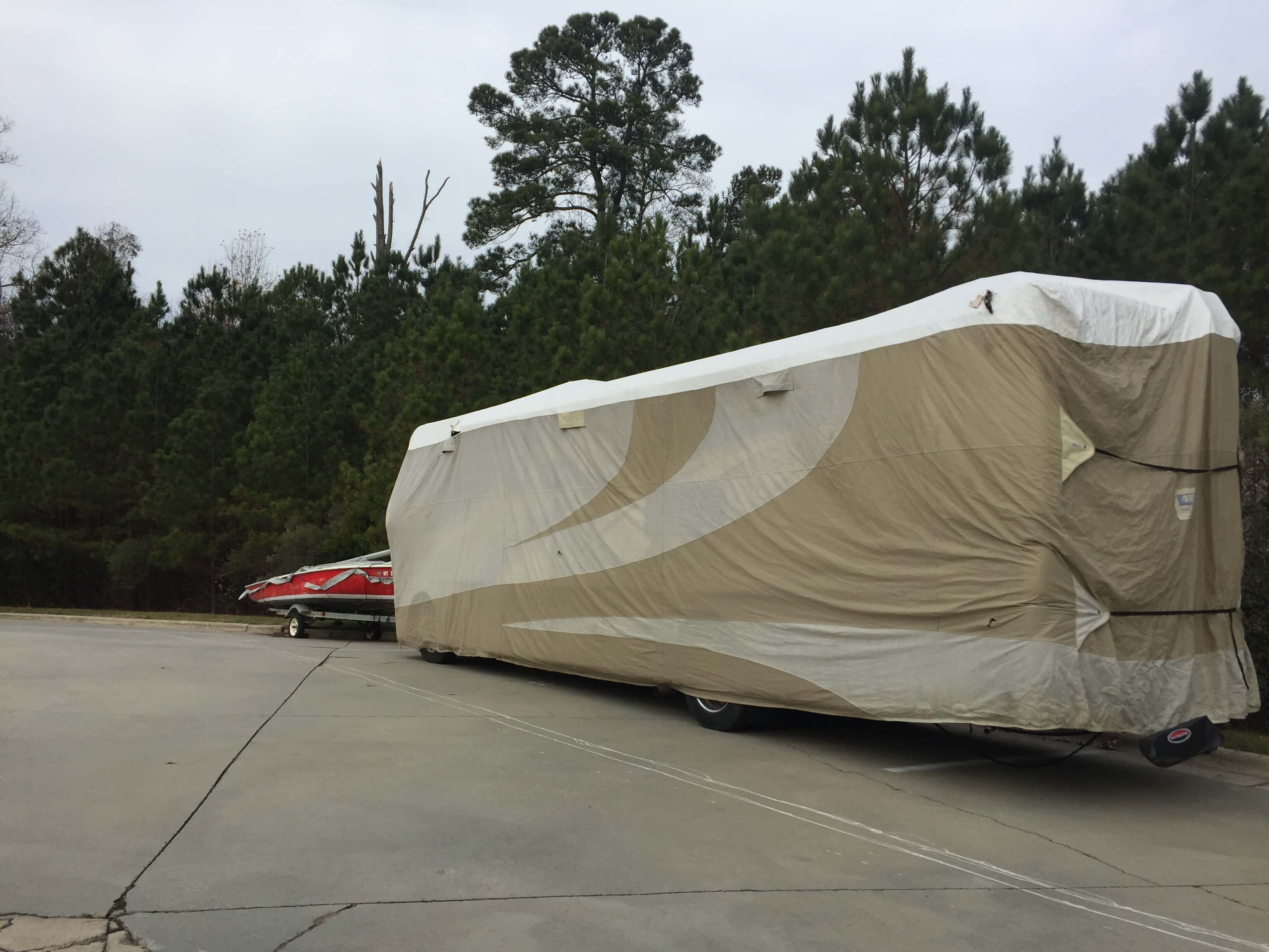 RV parking at Smart Stop self storage facility located at 120 Centrewest Ct, Cary North Carolina