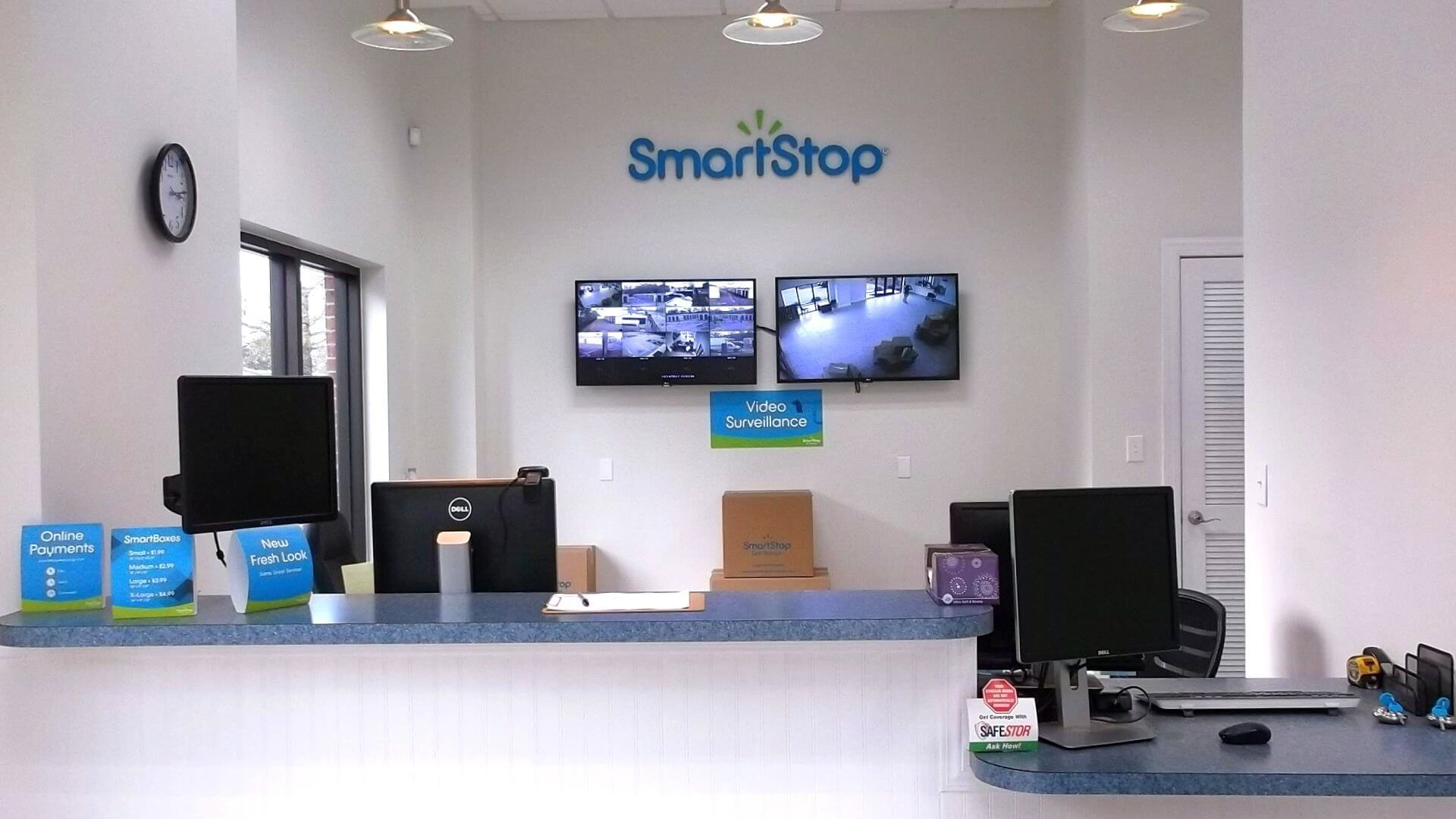 Front desk at Smart Stop self storage facility located at 338 Jesse Street, Myrtle Beach South Carolina