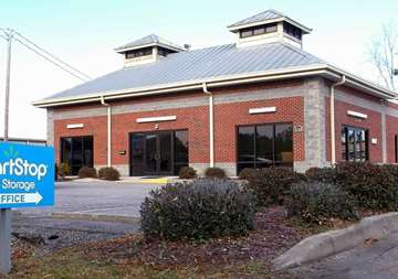 Front street view of SmartStop Self Storage facility located at 338 Jesse Street, Myrtle Beach South Carolina