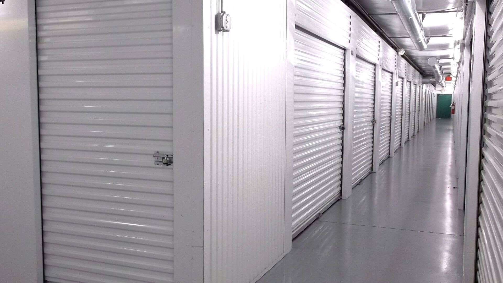 Inside row of storage units at Smart Stop self storage facility located at 338 Jesse Street, Myrtle Beach South Carolina