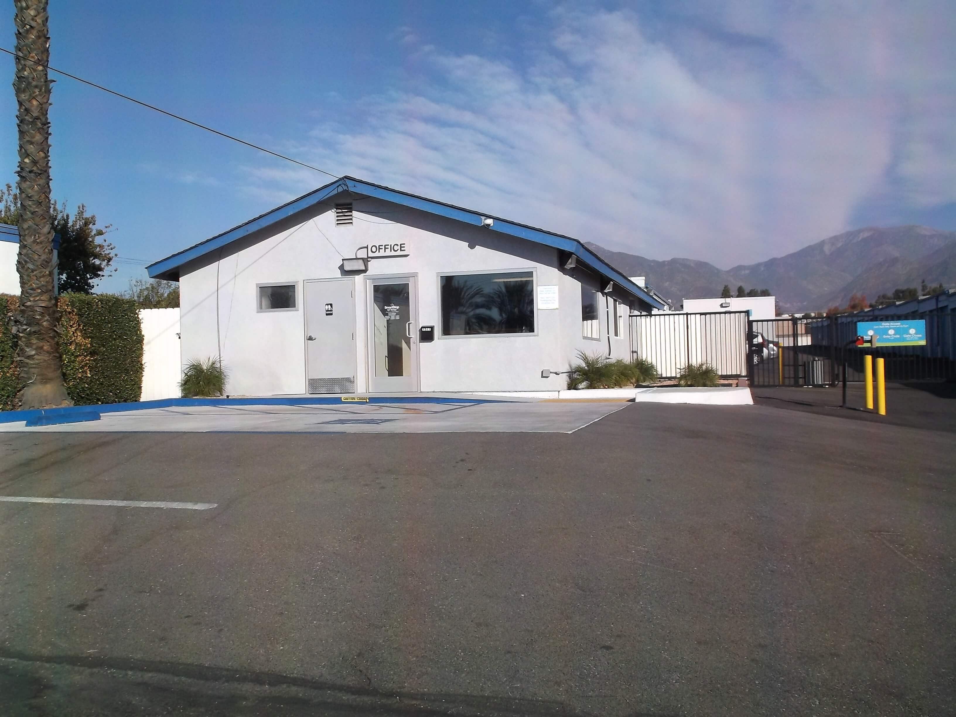Front of Self Storage Property in Upland