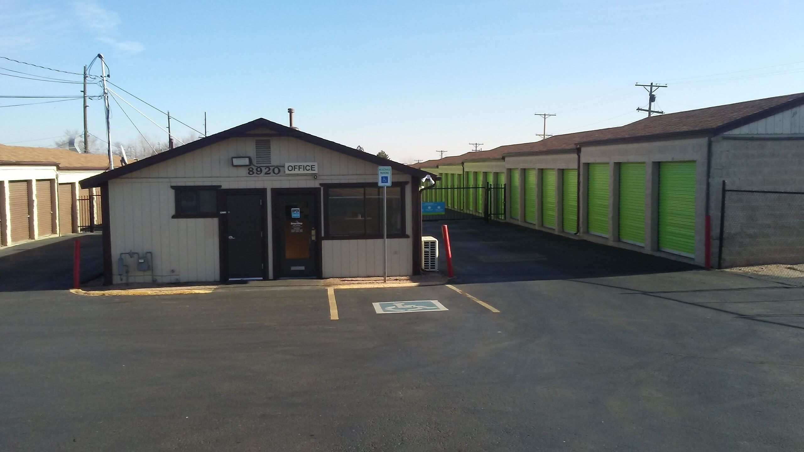 Front of Self Storage Property in Federal Heights