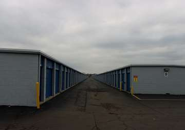 Outside row of storage units at SmartStop Self Storage facility located at 262 East Maple Road, Troy Michigan