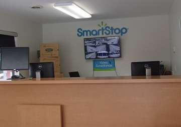 Front desk at SmartStop Self Storage facility located at 262 East Maple Road, Troy Michigan