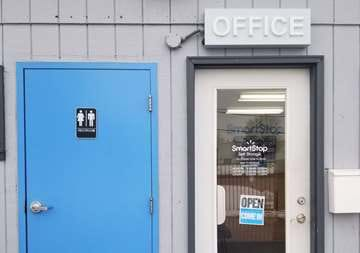 Front office entry at SmartStop Self Storage facility located at 24623 Ryan Road, Warren Michigan