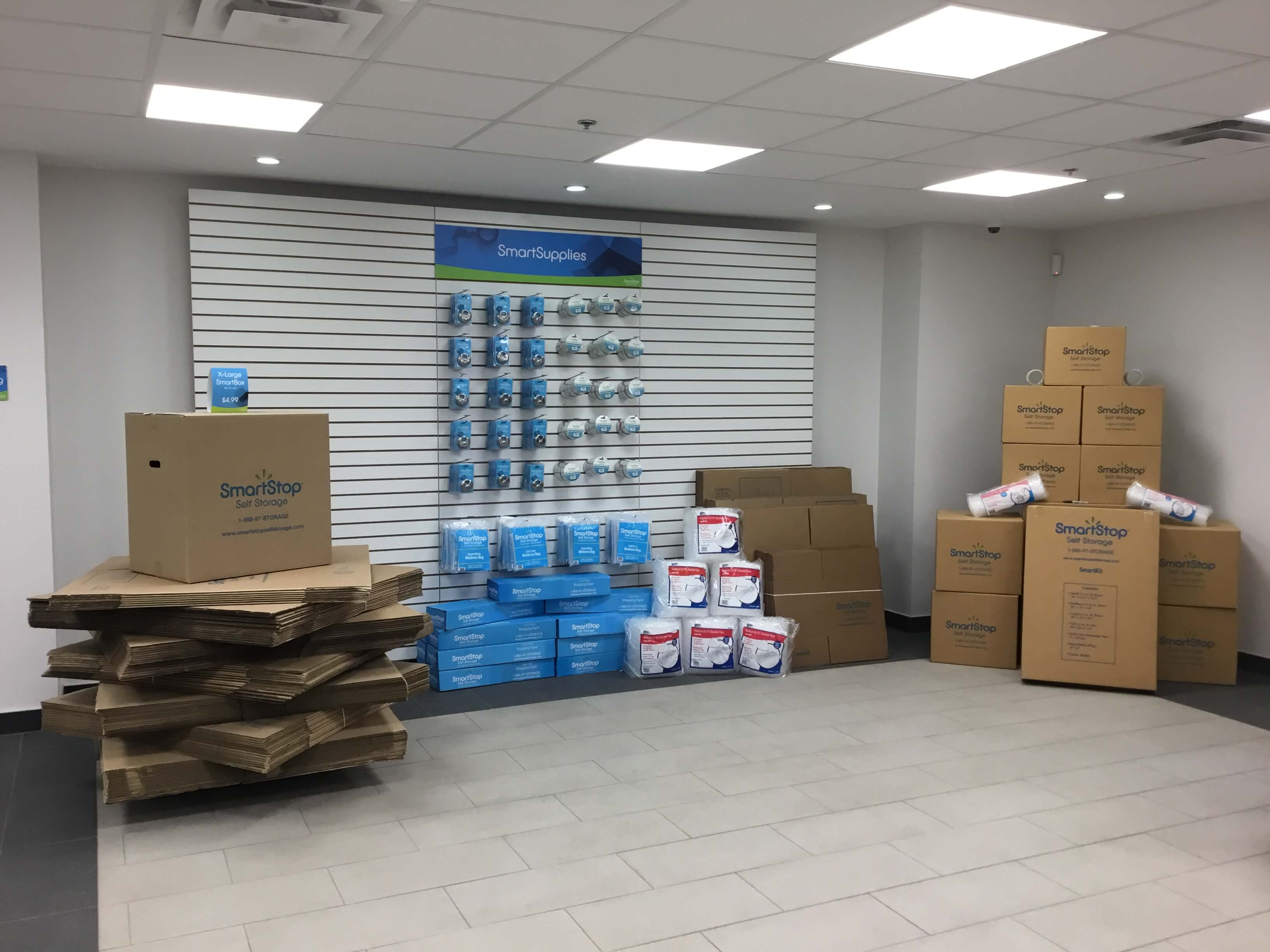 Available moving supplies for sale at Smart Stop self storage facility located at 2055 Cornwall Road, Oakville Ontario Canada