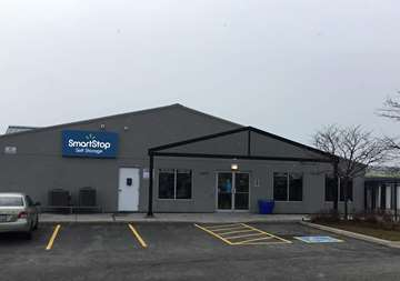 Outside of front office at SmartStop Self Storage facility located at 4491 Mainway Drive, Burlington Ontario Canada
