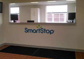 Front desk at SmartStop Self Storage facility located at 700 West Russell Road, Sidney Ohio