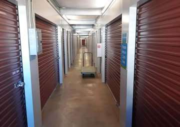 Inside row of storage units at SmartStop Self Storage facility located at 1840 Victoria Street, Washington Court House Ohio
