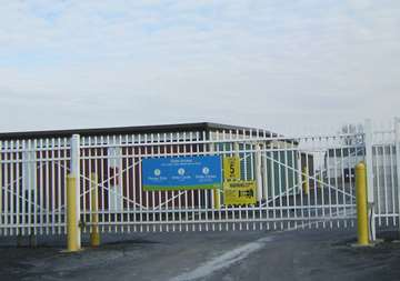 Security gate at SmartStop Self Storage facility located at 1840 Victoria Street, Washington Court House Ohio