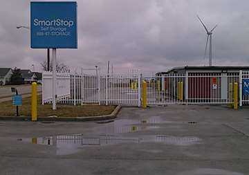 Security gate at SmartStop Self Storage facility located at 1325 Benden Way, Greenville Ohio