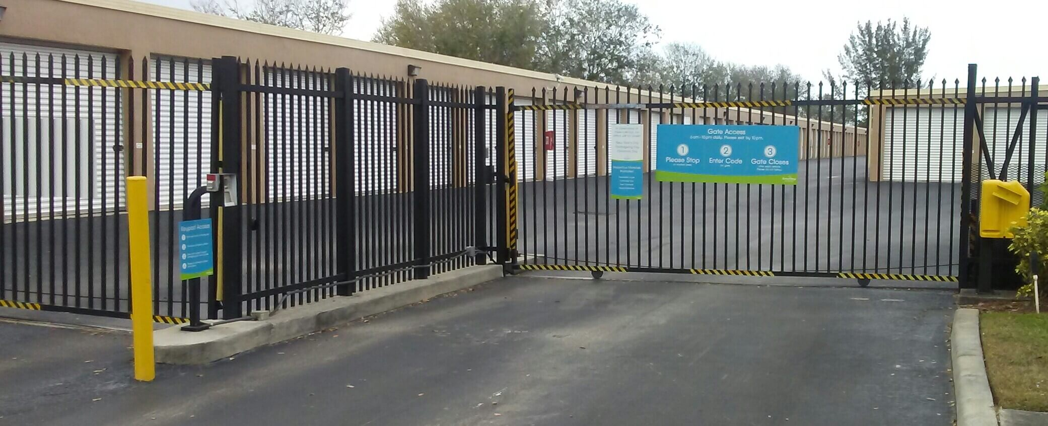 Gate Access to Storage Units in Royal Palm Beach