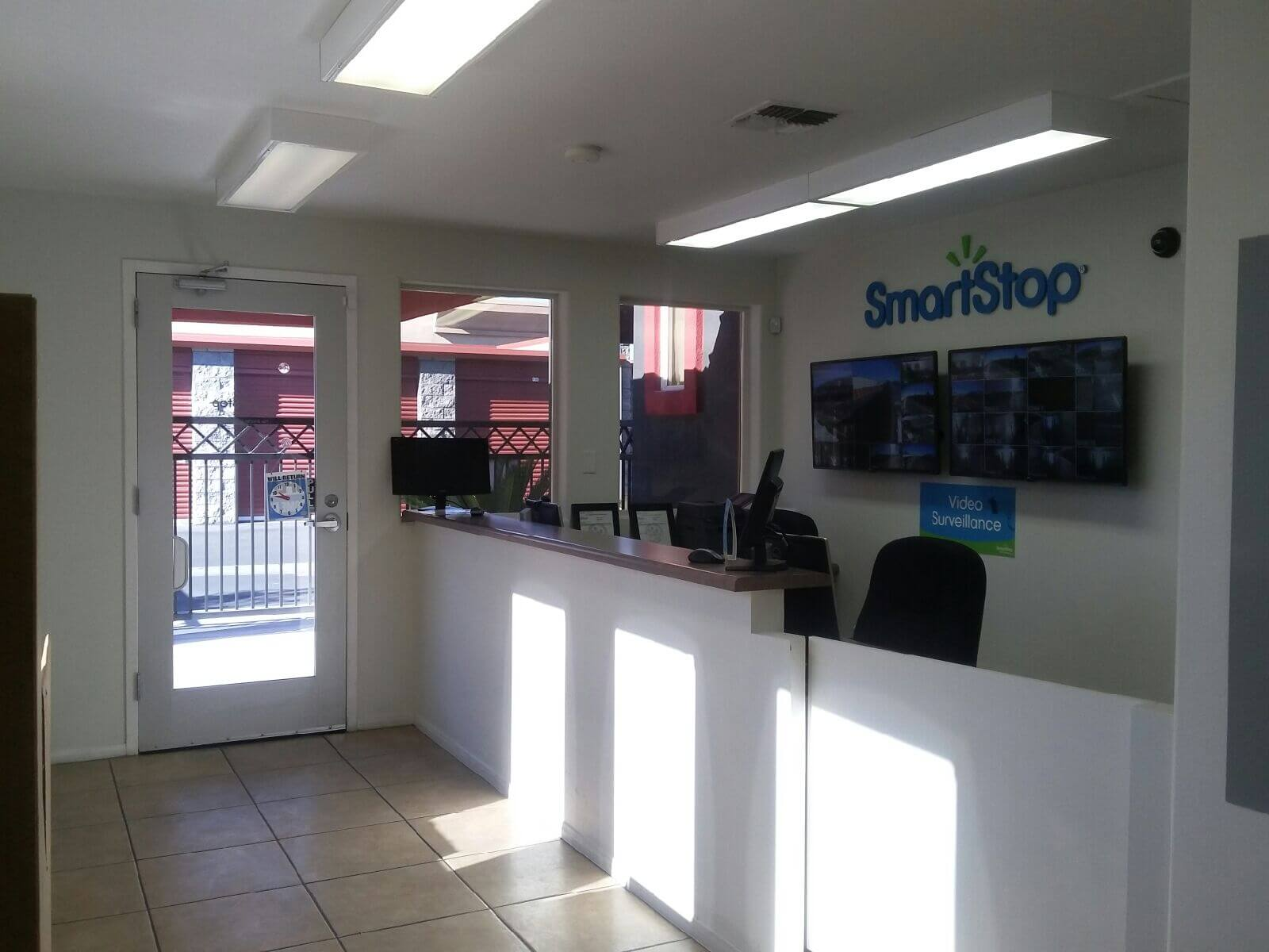 Front desk at Smart Stop self storage facility located at 590 East Silverado Ranch Blvd, Las Vegas Nevada