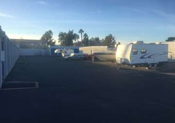 RV parking at SmartStop Self Storage facility located at 6318 West Sahara Ave, Las Vegas Nevada