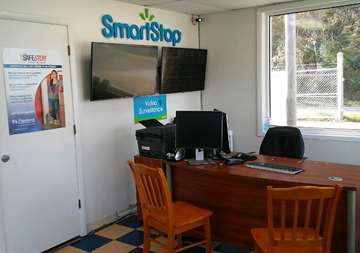 Inside front office at SmartStop Self Storage facility located at 1130 Sweeten Creek Road, Asheville North Carolina