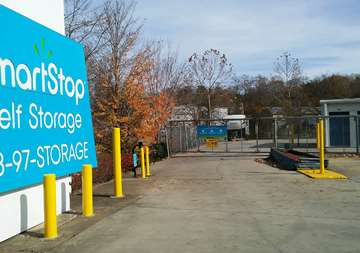 Entry into SmartStop Self Storage facility located at 127 Sweeten Creek Road, Asheville North Carolina