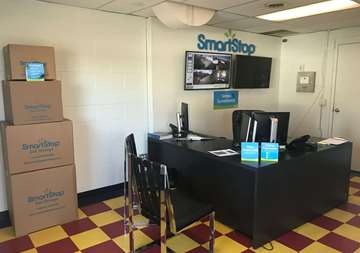 Inside front office at SmartStop Self Storage facility located at 600 Patton Ave, Asheville North Carolina