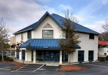 Front entry and office at SmartStop Self Storage facility located at 3909 Sweeten Creek Road, Arden North Carolina