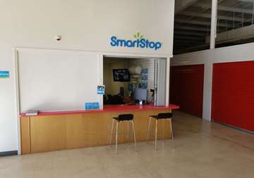 Front desk at SmartStop Self Storage facility located at 550 Swannanoa River Road, Asheville North Carolina