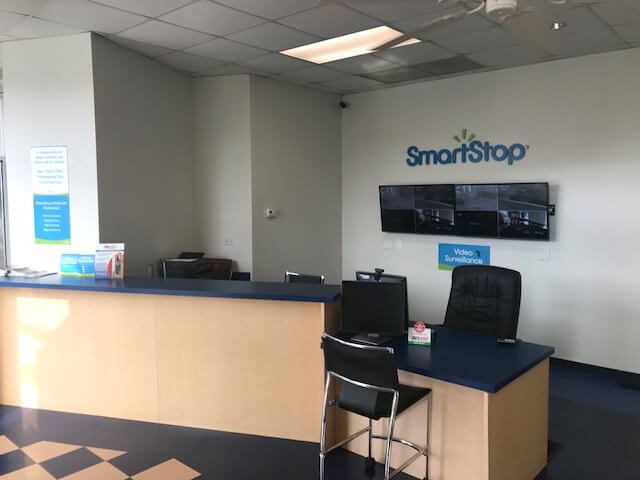 Front desk at Smart Stop self storage facility located at 102 Glover Street, Hendersonville North Carolina