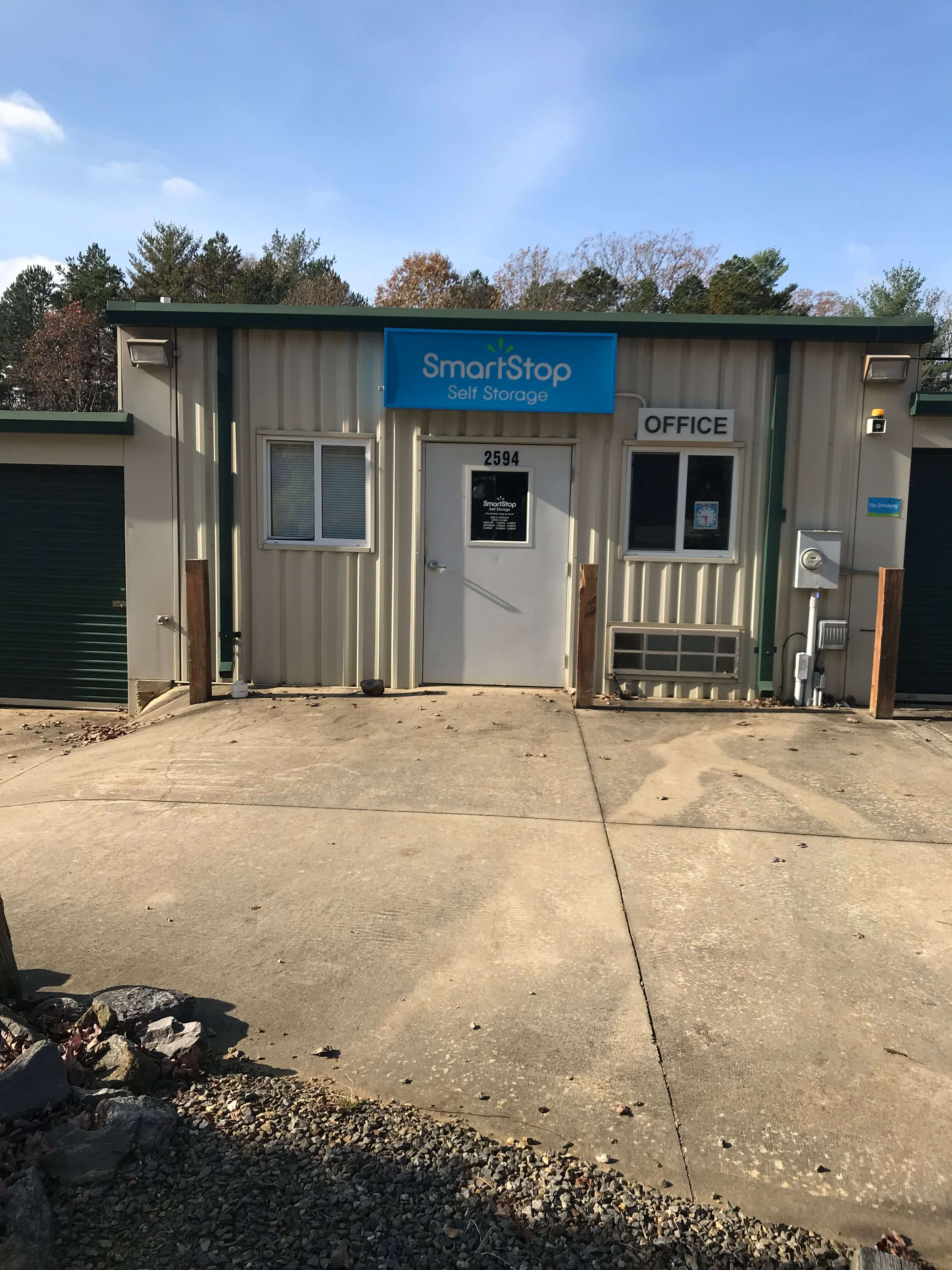 Front Office at Smart Stop self storage facility located at 2594 Sweeten Creek Road, Asheville North Carolina