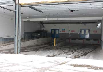 Covered loading dock at SmartStop Self Storage facility located at 4548 Dufferin Street, North York Ontario Canada