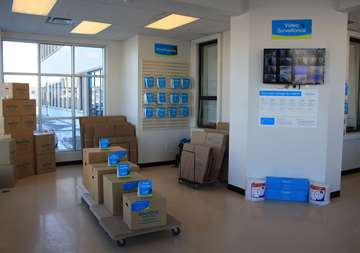 Available moving supplies for sale at SmartStop Self Storage facility located at 3136 Mavis Road, Mississauga Ontario Canada