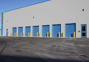Outside row of storage units at SmartStop Self Storage facility located at 600 Granite Ct, Pickering Ontario Canada