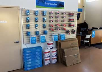 Available moving supplies for sale at SmartStop Self Storage facility located at 515 Centennial Road North, Scarborough Ontario Canada