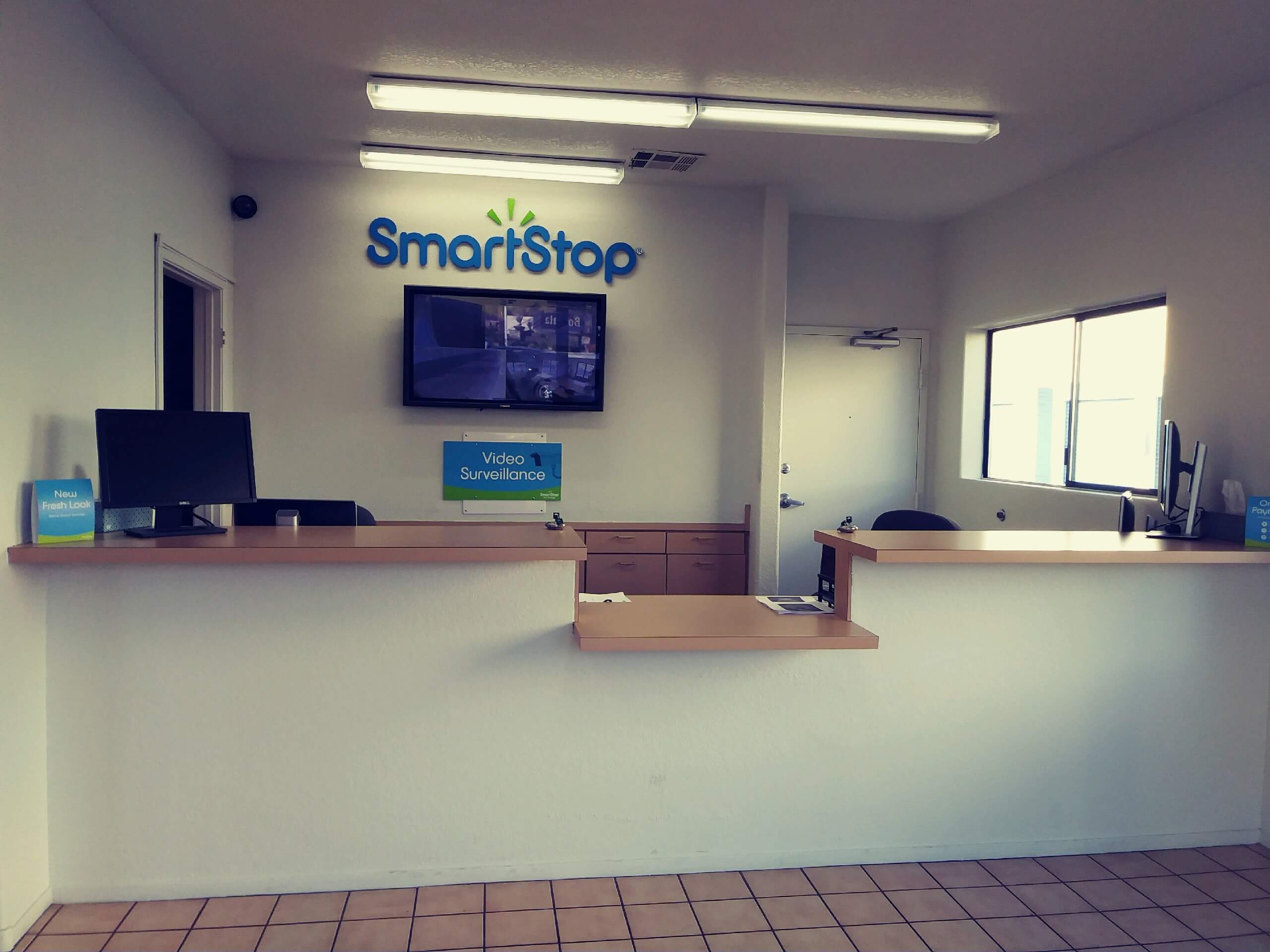 Inside front office at Smart Stop self storage facility located at 4349 South Jones Blvd., Las Vegas Nevada