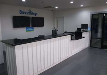Front desk at SmartStop Self Storage facility located at 4866 East Russell Road, Las Vegas Nevada