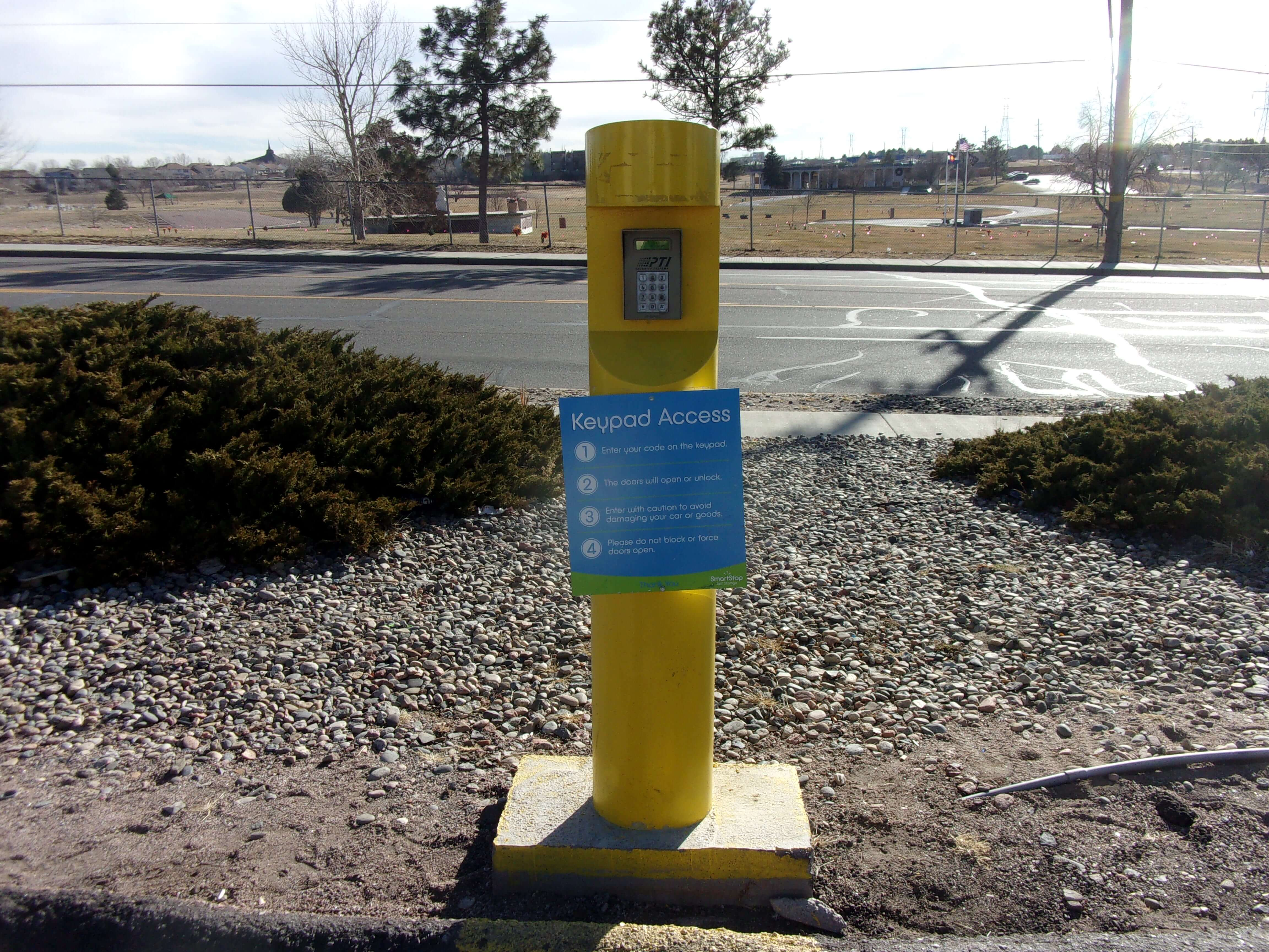 Keypad Access to Self Storage Units in Colorado Springs