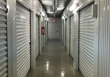 Inside view of storage unites SmartStop Self Storage facility at 8239 Broadway St in San Antonio Texas