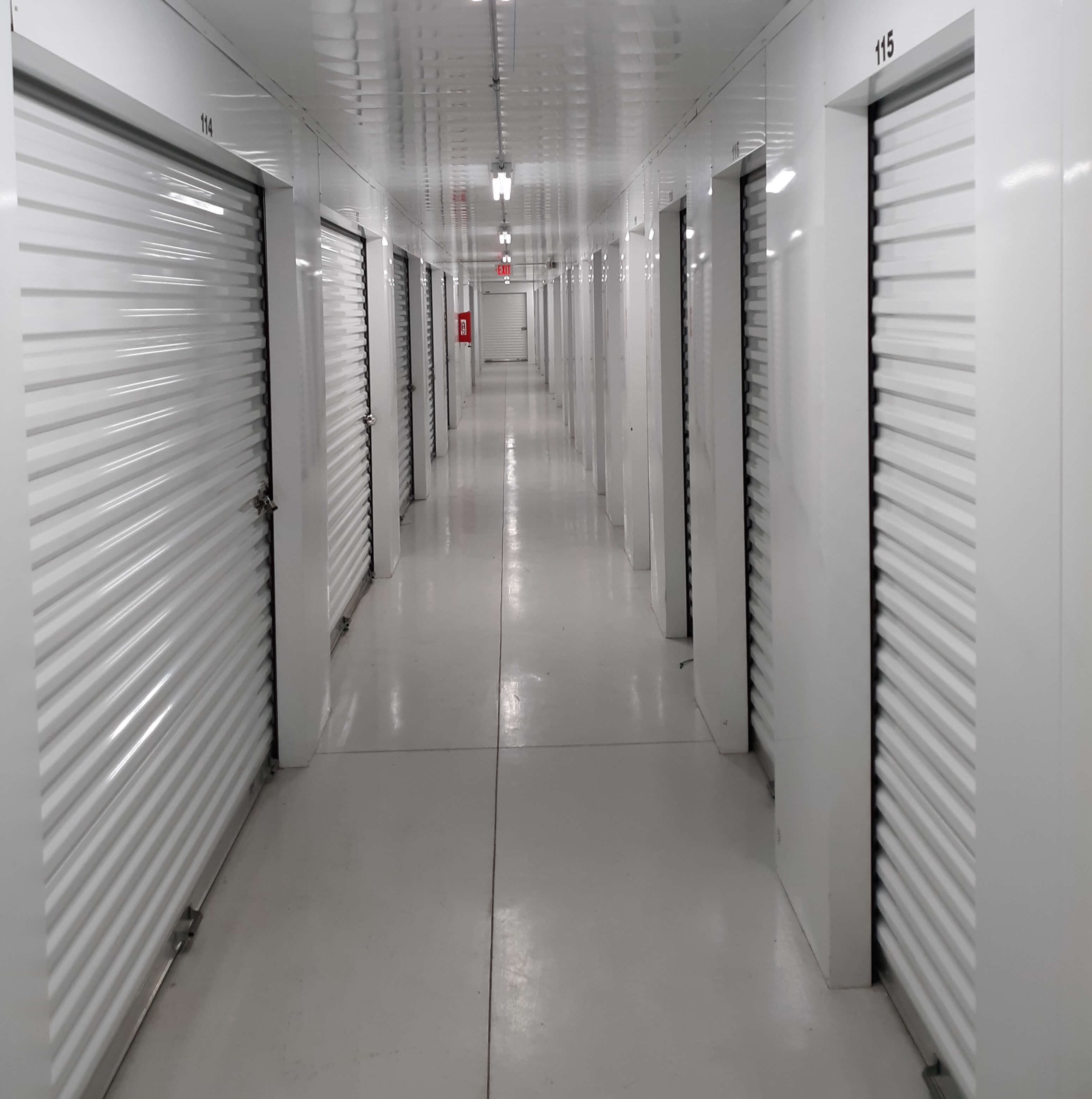 Inside view of storage units at Smart Stop Self Storage facility at 1671 Northpark Drive in Kingwood Texas