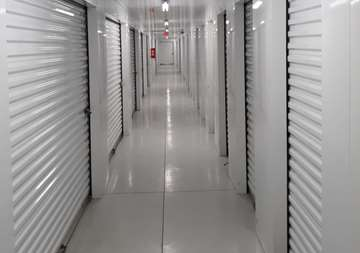 Inside view of storage units at SmartStop Self Storage facility at 1671 Northpark Drive in Kingwood Texas