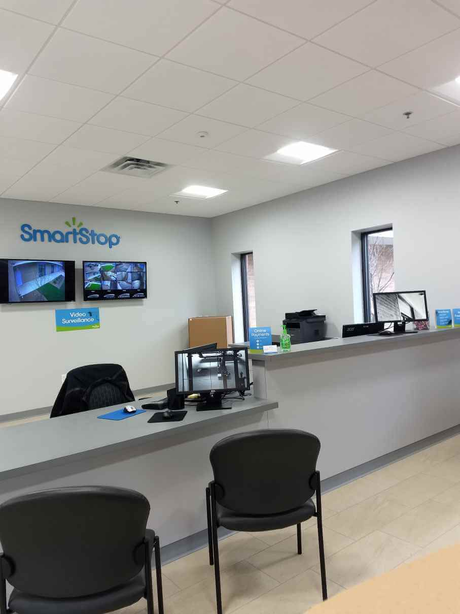 Front desk at Smart Stop self storage facility located at 3173 Sweeten Creek Road, Asheville North Carolina