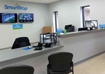 Front desk at SmartStop Self Storage facility located at 3173 Sweeten Creek Road, Asheville North Carolina