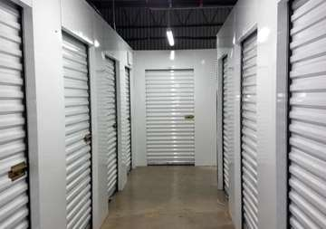 Inside row of storage units at SmartStop Self Storage facility located at 3173 Sweeten Creek Road, Asheville North Carolina